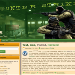 Красивый WordPress шаблон для Counter Strike