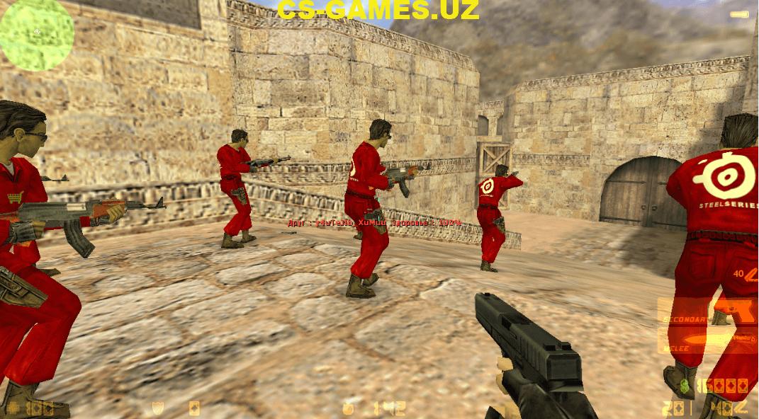 Красные и синие модели игроков для CS 1.6