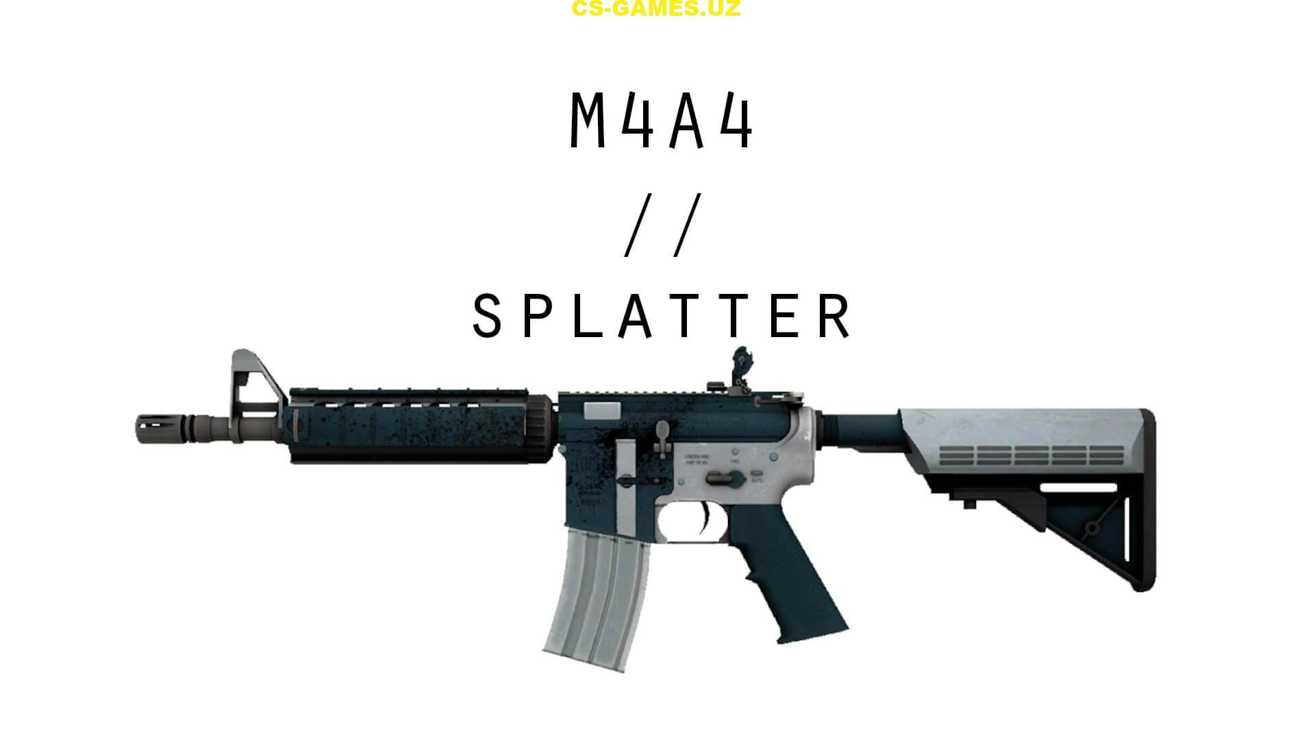 Модель оружия M4A4 Splatter для CS GO