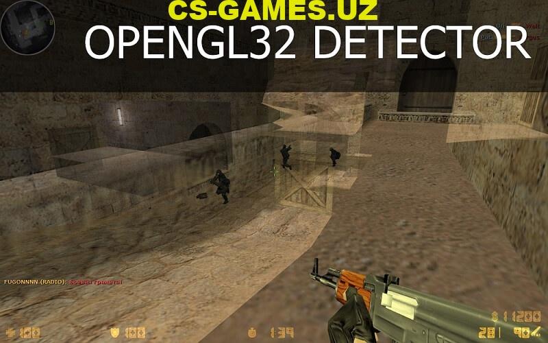 Плагин OpenGL32 Detector для кс 1.6