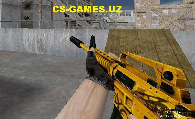 Набор золотых моделей оружия для CS 1.6