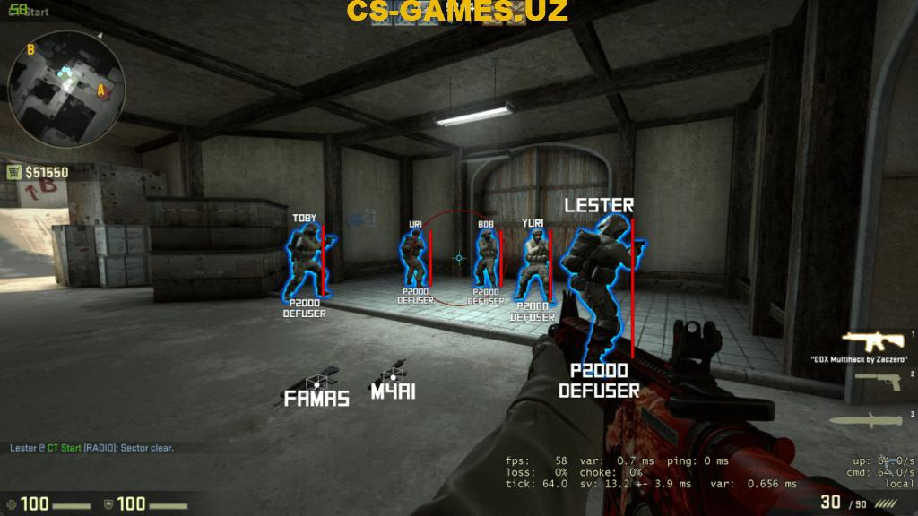 Чит Multihack DDX для CS:GO