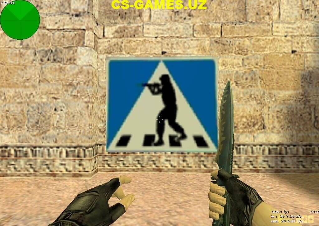 Логотип Знак Пешехода для CS 1.6