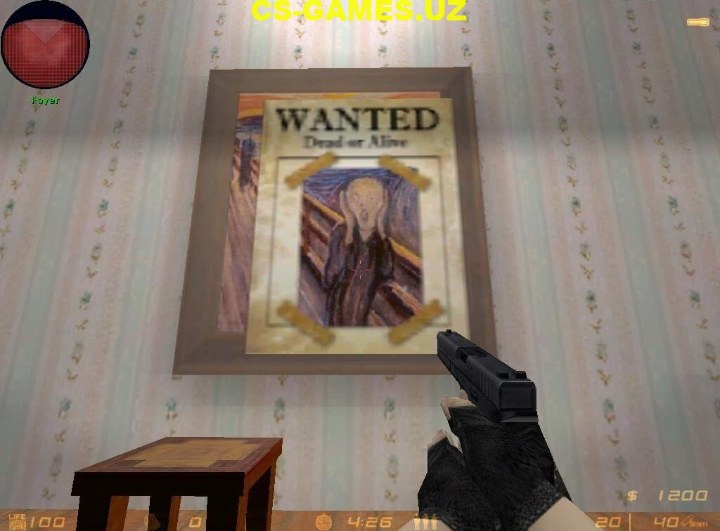 Лого Wanted Poster для CS 1.6