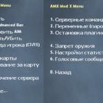 Русское AmxModMenu для сервера CS 1.6