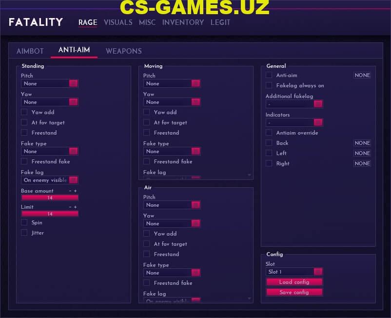 Чит Fatality для CS GO
